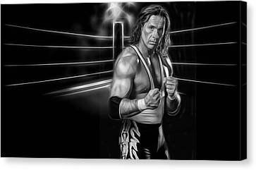 Bret Hart The Hitman Wrestling Collection Canvas Print by Marvin Blaine