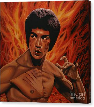 Bruce Lee Enter The Dragon Canvas Print by Paul Meijering