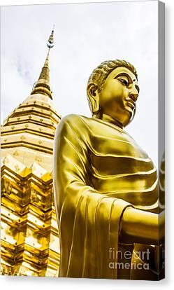 Buddha Image Canvas Print by Honey Bee