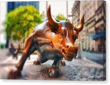 Bullish - Da Canvas Print by Leonardo Digenio
