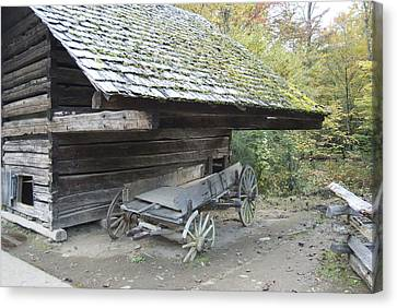 Cable Mill Barn Canvas Print by Michael Peychich