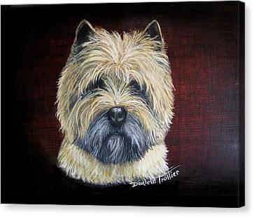 Cairn Terrier Love Canvas Print by Daniele Trottier