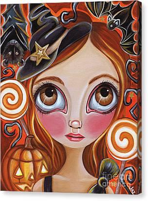 Cancer - Zodiac Mermaid Canvas Print by Jaz Higgins