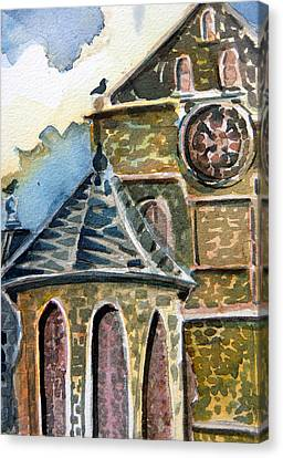 Cantebury Cathedral Canvas Print by Mindy Newman