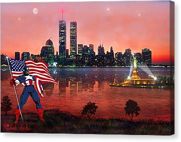 Captain America Canvas Print by Michael Rucker