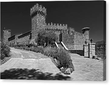 Castello Di Amorosa Winery Canvas Print by Mountain Dreams