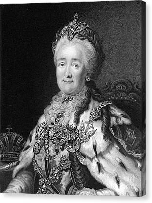 Catherine The Great, Empress Of Russia Canvas Print by Middle Temple Library