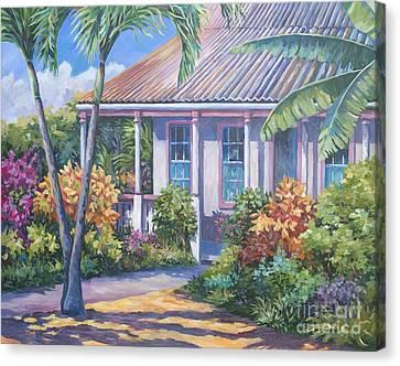 Cayman Yard Canvas Print by John Clark