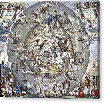Celestial Planisphere, 1660 Canvas Print by Granger