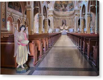 Angel - Saint Mary Of The Angels - Chicago Canvas Print by Nikolyn McDonald