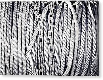 Chains And Cables Canvas Print by Tom Gowanlock