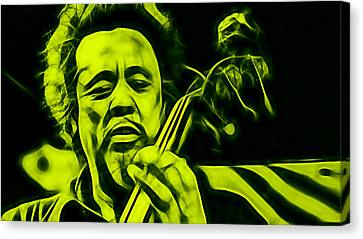 Charles Mingus Collection Canvas Print by Marvin Blaine
