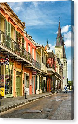 Chartres St In The French Quarter 2 Canvas Print by Steve Harrington