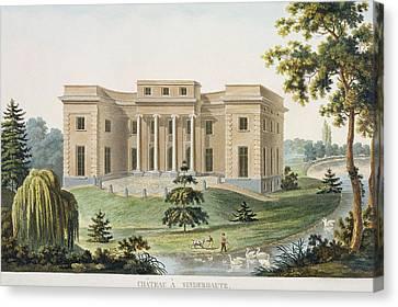 Chateau At Vinderhaute Canvas Print by Pierre Jacques Goetghebuer