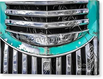 Chevrolet Grill 5 Canvas Print by Ashley M Conger