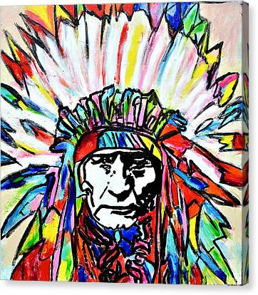 Chief Canvas Print by Nicole Gavin