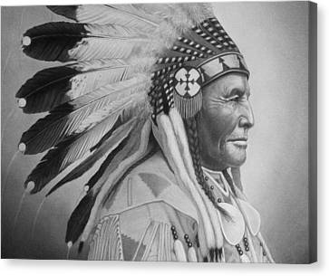 Chief Canvas Print by Tim Dangaran