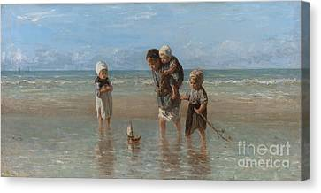 Children Of The Sea Canvas Print by Jozef Israels