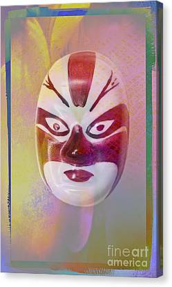 Chinese Porcelain Mask Canvas Print by Heiko Koehrer-Wagner