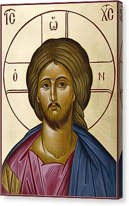 Christ Pantokrator Canvas Print by Julia Bridget Hayes