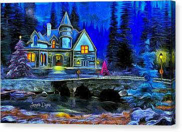 Christmas Night Canvas Print by Leonardo Digenio