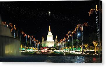 Christmas On Temple Hill Canvas Print by Geoffrey C Lewis