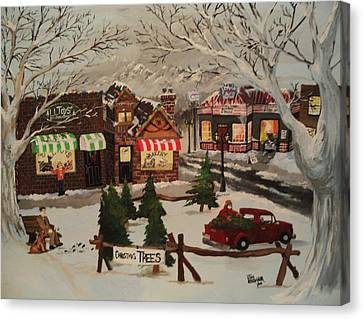 Christmas Village Canvas Print by Tim Loughner