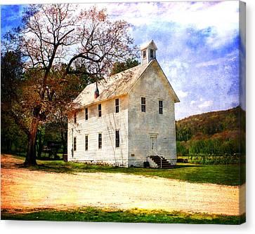 Church At Boxley Canvas Print by Marty Koch