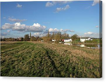 Church By The River Canvas Print by Mark Severn