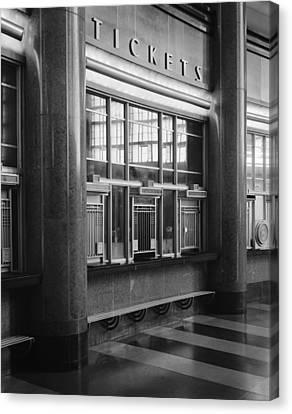 Cincinnati Union Terminal, Ticket Canvas Print by Everett