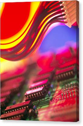 Circuit Board Canvas Print by Chris Knapton