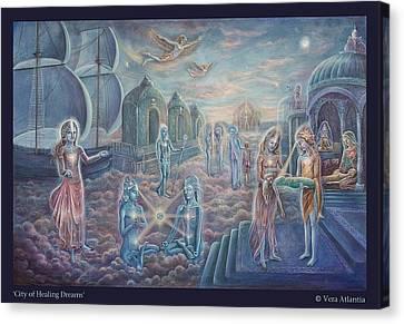 City Of Healing Dreams Canvas Print by Vera Atlantia