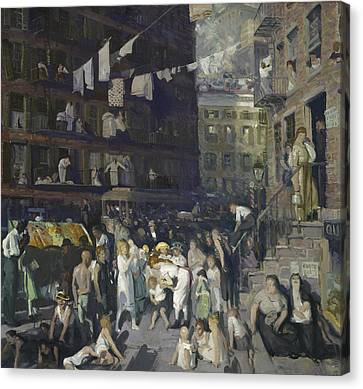 Cliff Dwellers Canvas Print by George Wesley Bellows