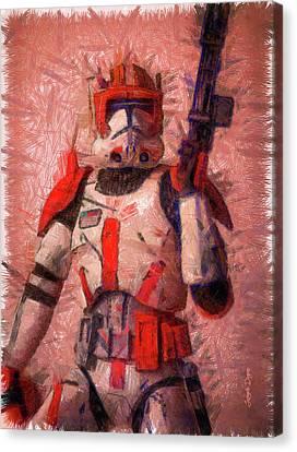 Clone Commander Cody - Pencil Style Canvas Print by Leonardo Digenio
