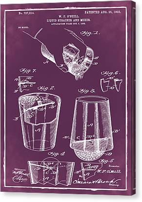 Cocktail Mixer Patent 1903 In Chalk Canvas Print by Bill Cannon