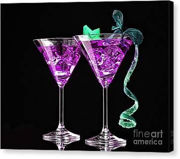 Cocktails Collection Canvas Print by Marvin Blaine