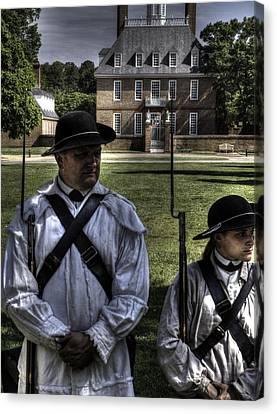 Colonial Williamsburg  V8 Canvas Print by John Straton