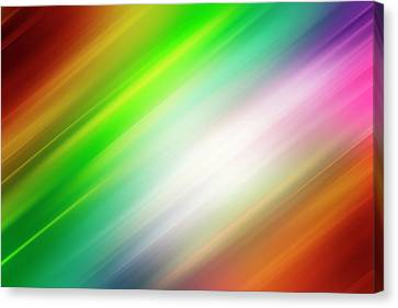 Colorful Abstract  Canvas Print by Les Cunliffe