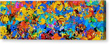 Colorful Abstract Mural Canvas Print by Bruce Nutting
