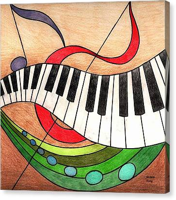 Colorful Music Canvas Print by Michelle Young