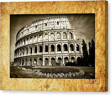 Colosseo Canvas Print by Stefano Senise
