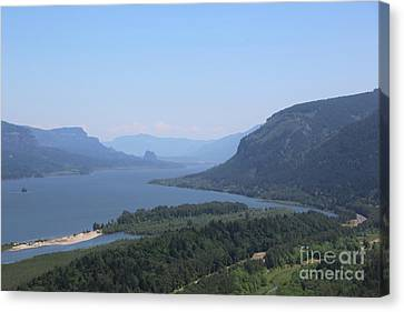Columbia River Gorge Canvas Print by Carol Groenen