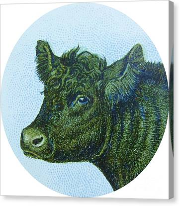 Cow I Canvas Print by Desiree Warren