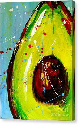 Crazy Avocado Canvas Print by Patricia Awapara
