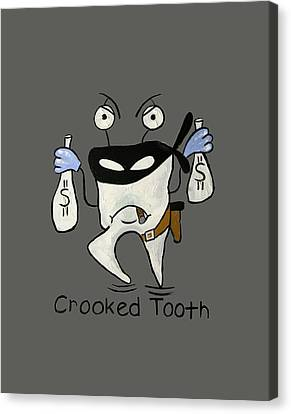 Crooked Tooth Canvas Print by Anthony Falbo