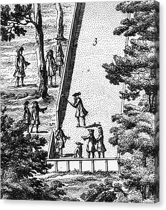 Croquet Canvas Print by English School