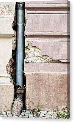 Crumbling Wall Canvas Print by Tom Gowanlock