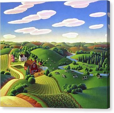 Dairy Farm  Canvas Print by Robin Moline