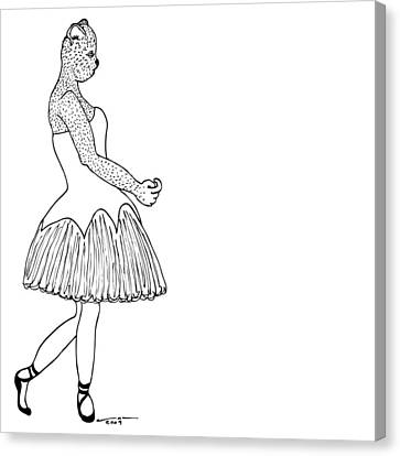 Dancer Canvas Print by Karl Addison