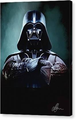 Darth Vader Star Wars  Canvas Print by Michael Greenaway